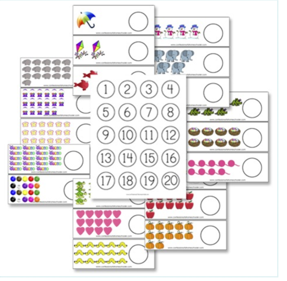 Bottle Cap Counting Cards