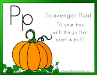 Letter P for Pumpkin
