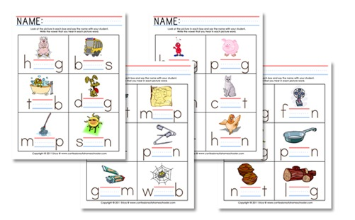 K4 Curriculum: Middle Vowel Sounds