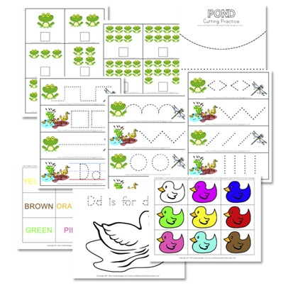Preschool Pond Theme Free Printables