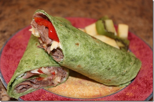 Roast Beef Tortilla Wrap Sandwiches