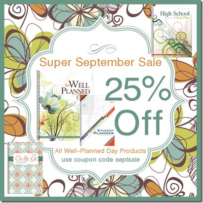 Well Planned Day Planner: September Sale!