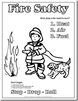 childrens fire safety coloring pages - photo#5