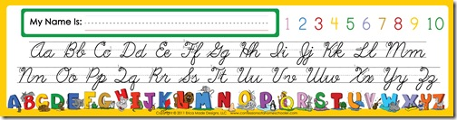 photograph about Alphabet Strip Printable known as Alphabet Table Good friend - Confessions of a Homeschooler
