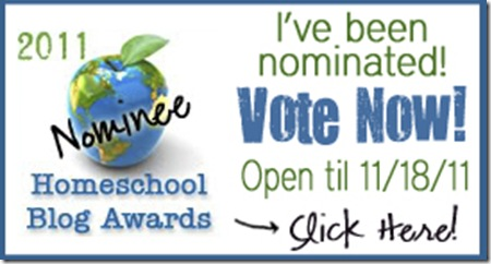 2011 HSBA Homeschool Blog Awards: VOTE NOW!