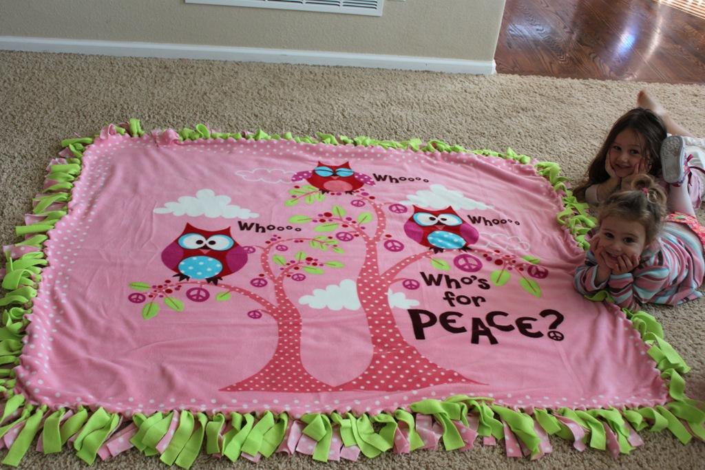No Sew Fleece Tie Blanket Tutorial Confessions Of A Homeschooler