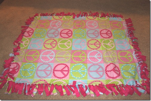 No Sew Fleece Tie Blanket Tutorial Confessions Of A