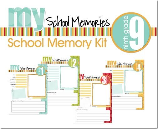 School Days Memory Keeping