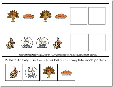 math worksheet : thanksgiving preschool free printables  confessions of a homeschooler : Thanksgiving Math Worksheets For Kindergarten
