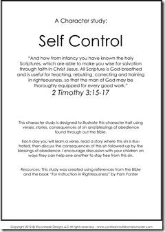 Essay on importance of self control