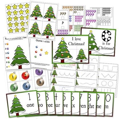 Christmas Preschool Printables - Confessions of a Homeschooler