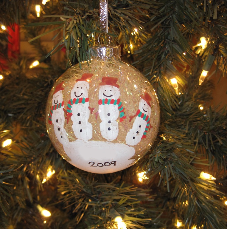 Handmade Handprint Ornaments