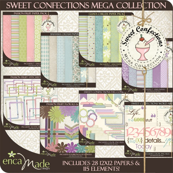 Sweet Confections Digital Scrapbook Kits