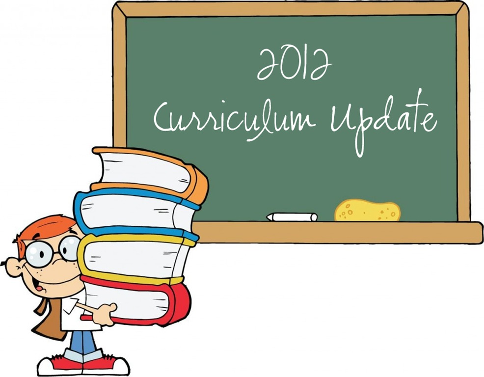 2012 Mid-Year Curriculum Changes