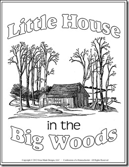 Little house in the big woods coloring book coloring page for Laura ingalls wilder coloring pages