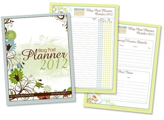 2012 Blog Post Planner