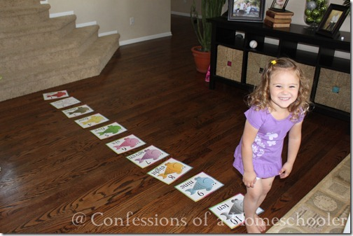 Teeny Tot preschool large floor number activity