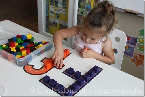 Teeny Tot preschool color block activity