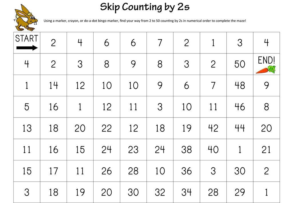 ... Hope You Enjoy The Skip Counting Mazes For More Free Math Worksheets