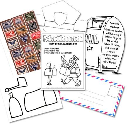 Kindergarten Mail Carrier Unit