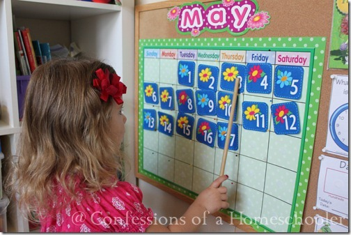 Teeny Tot preschool calendar time