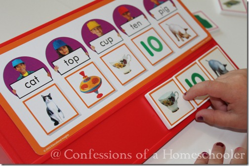 Teeny Tot preschool reading readiness game board