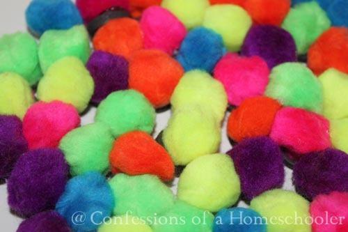 Homemade Pom-Pom Magnets
