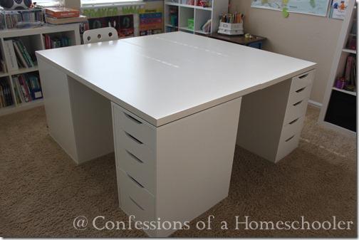 Our Ikea School Desks Confessions Of A Homeschooler