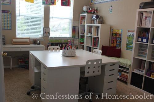 Our Ikea School Desks