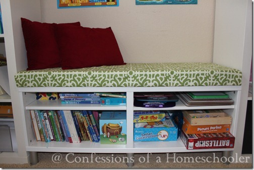 Homemade Reading Bench Tutorial Confessions Of A Homeschooler