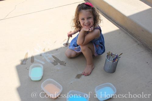 Summer Boredom Busters: Sidewalk Paint