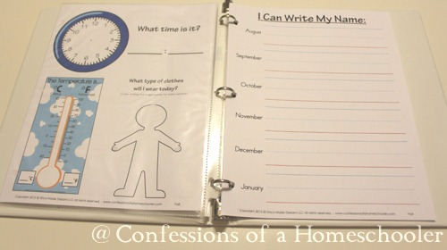 Kindergarten Daily Calendar Notebook : Preschool daily learning notebook confessions