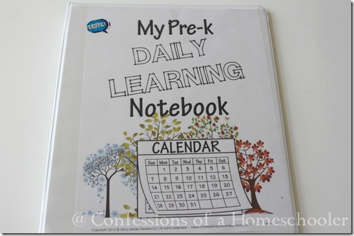 Preschool Daily Learning Notebook 2014-2015 - Confessions Of A