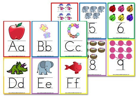 image regarding Abc Flash Cards Printable named Alphabet Flashcards Wall Posters - Confessions of a