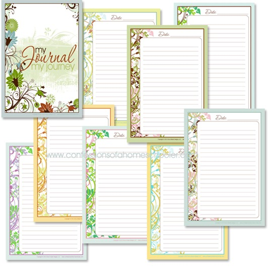 Current image with journal pages printable