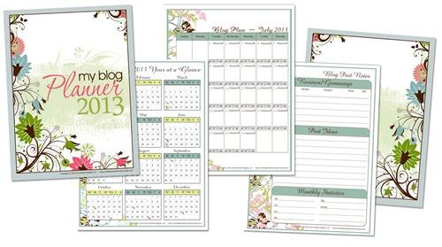 2013 Blog Planner FREE Printable