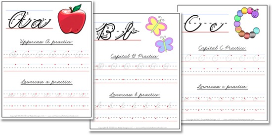 Number Names Worksheets printable alphabet handwriting worksheets : A-Z Cursive Handwriting Worksheets - Confessions of a Homeschooler