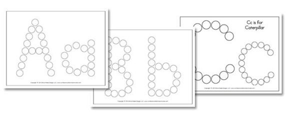 A-Z Do-A-Dot Worksheets