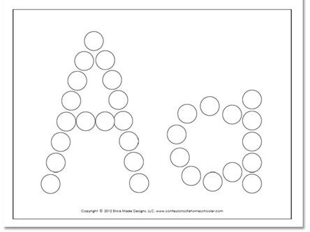 Number Names Worksheets alphabet dot to dot printables : A-Z Do-A-Dot Worksheets - Confessions of a Homeschooler