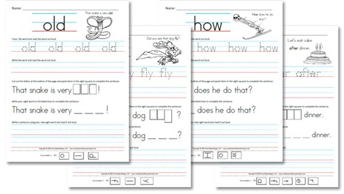 First Grade Sight Word Sentences