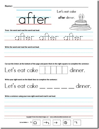 Complete the Sentence: Common Sight Words | Worksheet | Education.com