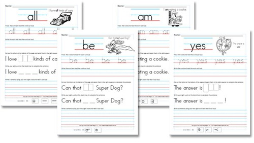 Kindergarten Primer Sight Word Sentences Confessions of a – Kindergarten Words Worksheets