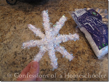 Winter Craft: Sparkling Winter Snowflakes