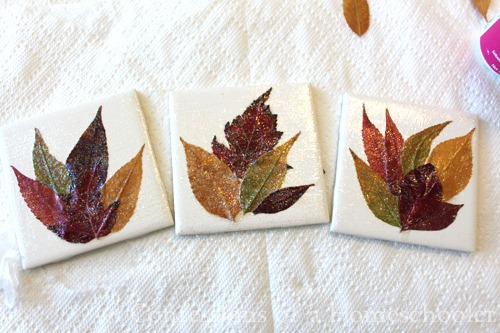 DIY: Homemade Leaf Coaster Craft