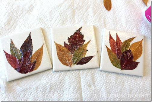 Diy Homemade Leaf Coaster Craft Confessions Of A Homeschooler