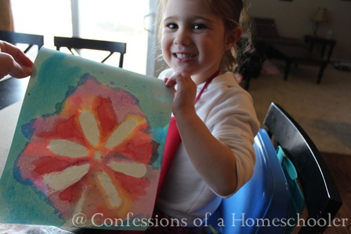 Masking Tape Water Color Art for Kids