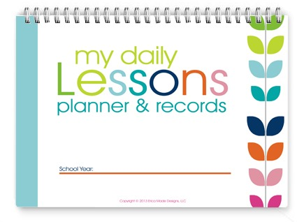 Homeschool Lesson Planner–Colorful