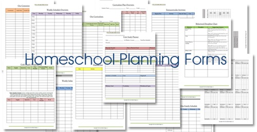 image about Free Printable Homeschool Planner called Homeschool Lesson Planner: Floral - Confessions of a