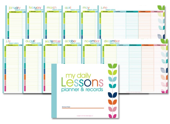 Homeschool Lesson Planner Colorful Confessions Of A