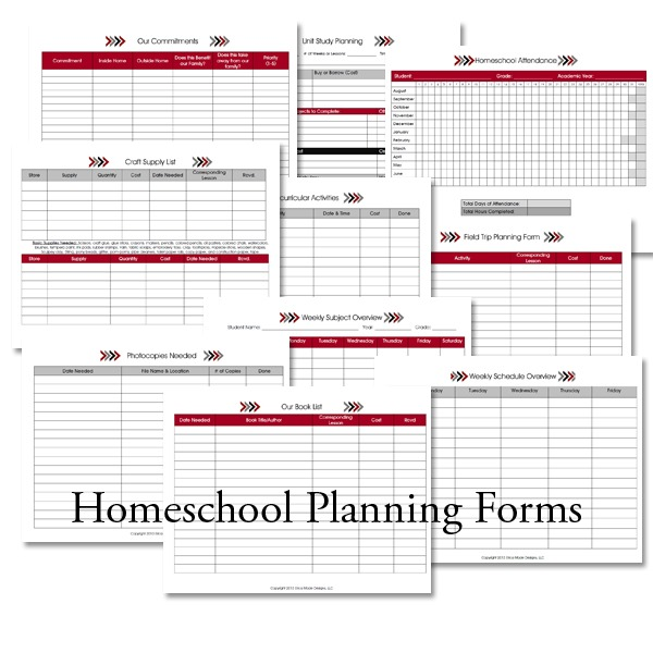 Homeschool Lesson Planner Arrows Confessions Of A Homeschooler